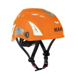 Kask: Helm, Plasma Hi Viz, orange-fluoreszierend u. reflektierende Aufkleber