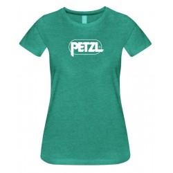 Petzl: Eve, Damen T-Shirt, L, grün meliert