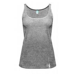 Petzl: City Sport, Damen Achselshirt, S, schwarz/weiss meliert