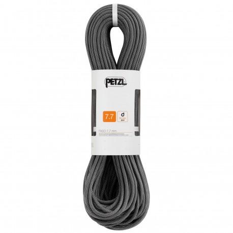 Petzl, Halbseil, Zwillingsseil: Paso Guide 7.7mm, 70m, grau