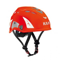 Kask: Helm, Plasma Hi Viz, rot-fluoreszierend u. refektierende. Aufkleber