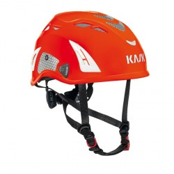 Kask Helm: Super Plasma PL Hi Viz, rot-fluo u. refl. Aufkleber