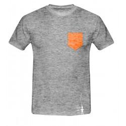 Petzl: City Sport, Herren T-Shirt, XL, schwarz/weiss meliert