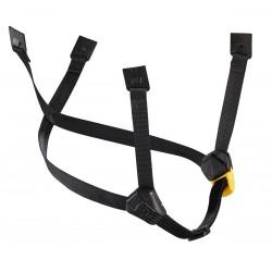 Petzl: DUAL-Kinnband, gelb/schwarz, long, für Helme Vertex (ab 2019) und Strato