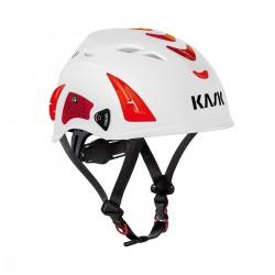 KASK, Helm Plasma Hi Viz, weiss u. rot refl. Aufkleber
