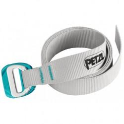 Petzl, Gürtel mit Logo und DOUBLEBACK LIGHT-Schnalle, Gürtel, grau/blau