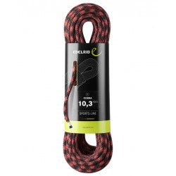 Edelrid, Einfachseil, Cobra 10.3mm, 50m, schwarz-rot