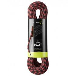 Edelrid, Einfachseil, Kletterseil, Cobra 10.3mm, 70m, schwarz-rot