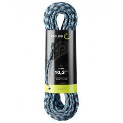 EDELRID, Einfachseil, Cobra 10.3mm, 80m, schwarz-blau