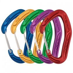 DMM, Karabiner, Alpha Trad, 5er Pack, blau, gold, grün, violett, rot