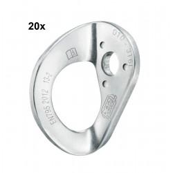 Petzl, Bohrhakenlasche, Anschlagpunkt Coeur Steel, 10mm (20Stk.)