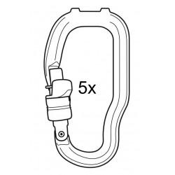 Petzl Ersatz-Karabiner Trac Guide Seilrolle, 5er Pack